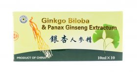 Ginkgo Biloba & Panax Ginseng Extractum  x 10 fiole x 10 ml